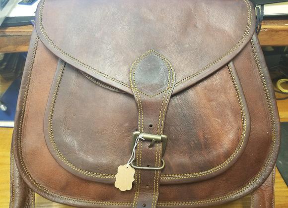 Leather Saddle Handbag