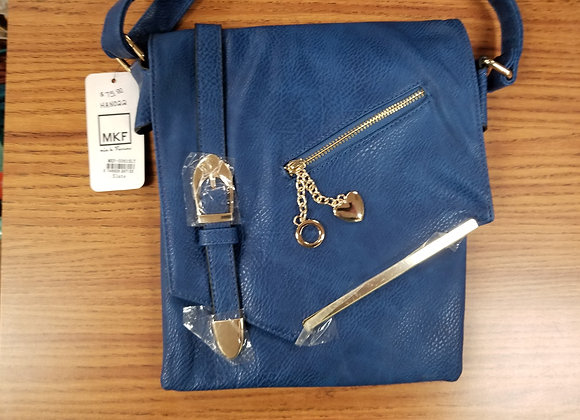 MKF Blue Leather Handbag