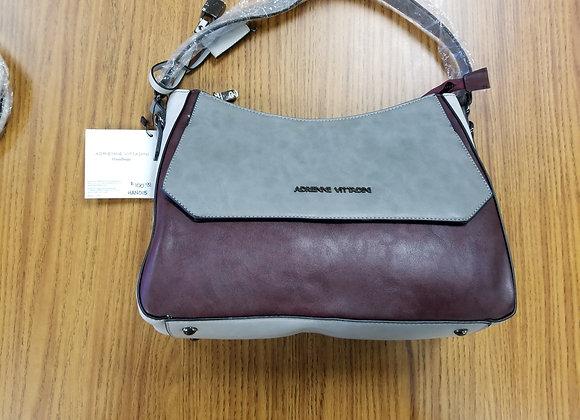Adrienne Vittadini Gray Leather Handbag