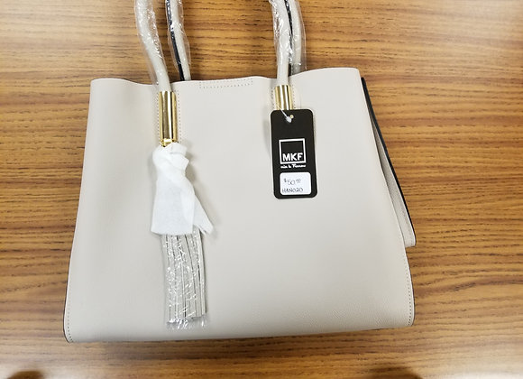 MKF White Leather Handbag