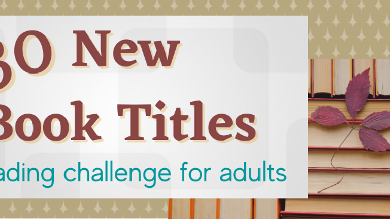 30 New Book Titles Challenge