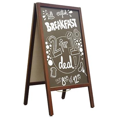 Wooden Pavement Chalk A-Board - Size A2