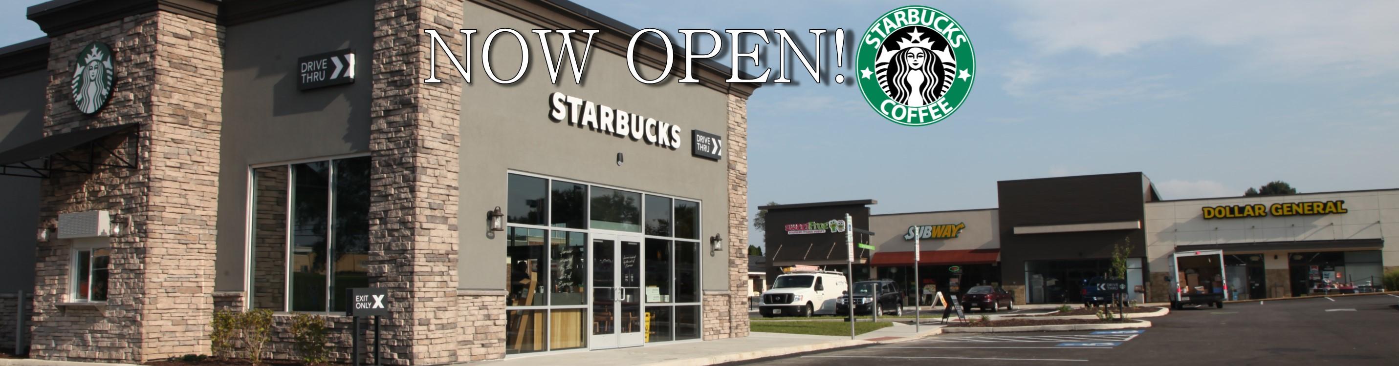 Starbucks Now Open