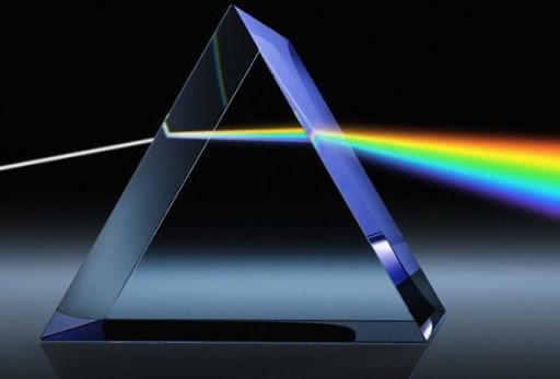 """O prisma provou que a cor é fenômeno real e ao mesmo tempo subjetivo. Segundo Newton: """"""""Os raios, expressados adequadamente, não são coloridos"""""""