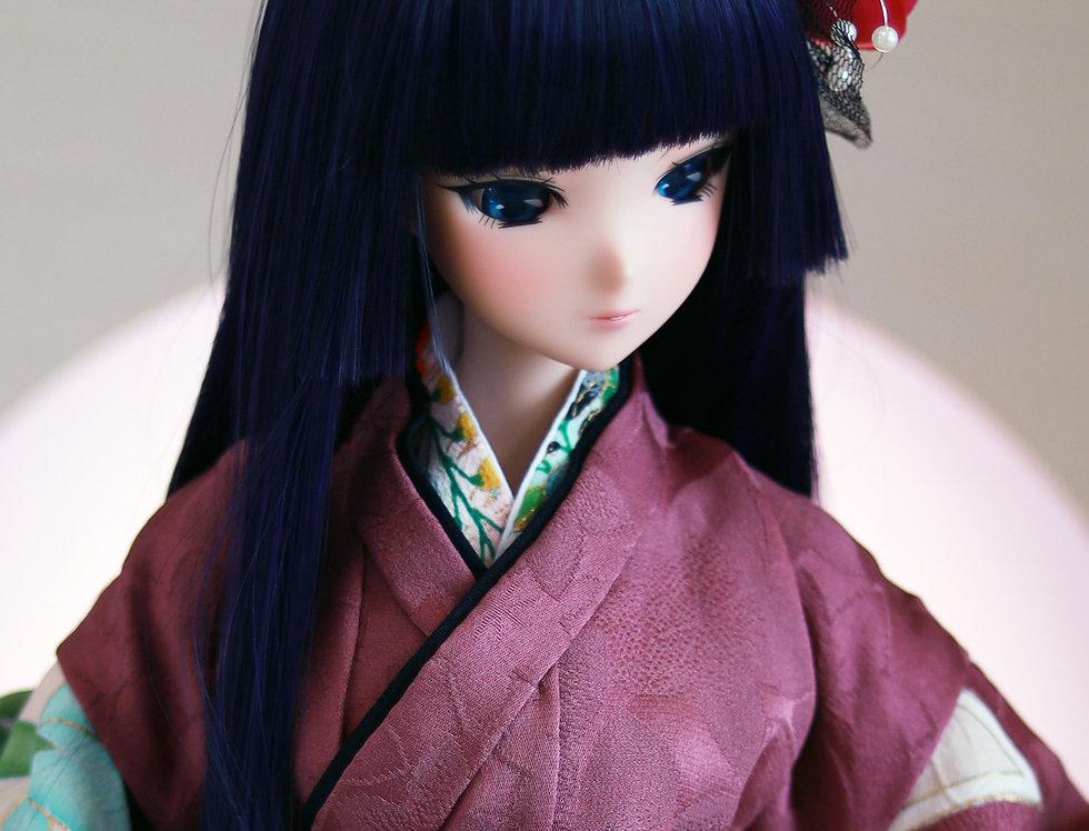 """Japanese series """"Hime Hair"""" blue"""
