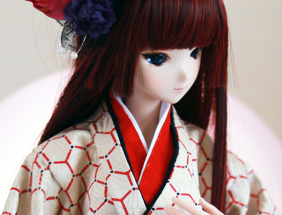 "Japanese series ""Hime Hair"" red"
