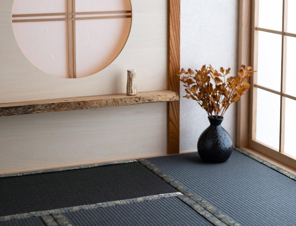 "Japanese series ""Tatami"" -Black Edition- 0.5 tatami to 6 tatami"