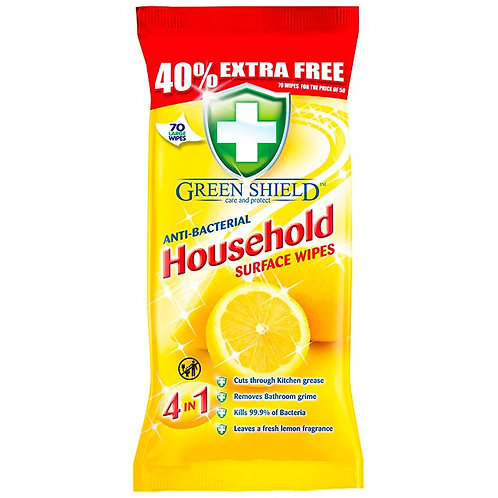 Anti bac household wipes 4 in 1