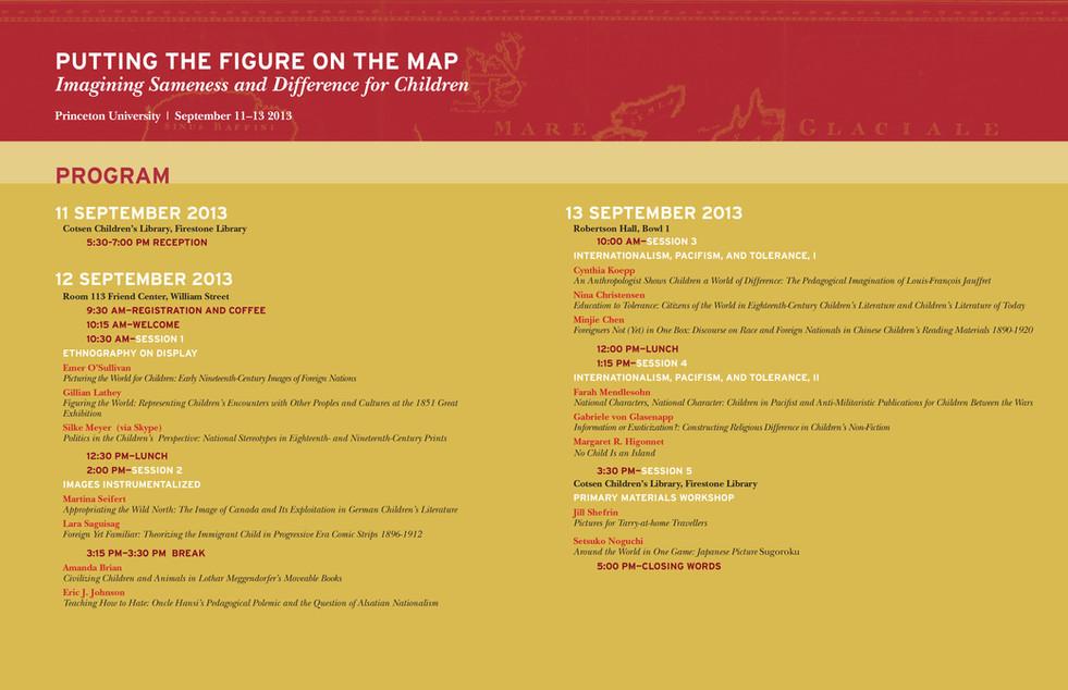 Educational Conference—Program brochure inside panels