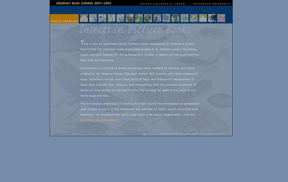 Online Children's Books Exhibits—2001-2005 Creepy Crawlies