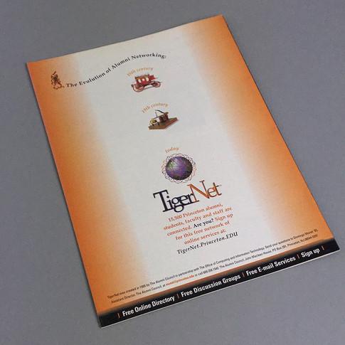 Princeton Alumni Weekly Magazine, back cover ad design