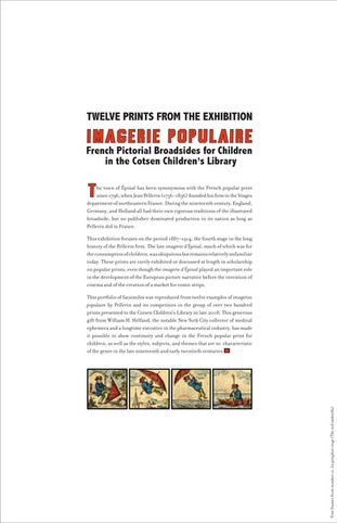 Museum-quality portfolio of facsimiles of Broadsides for Children page