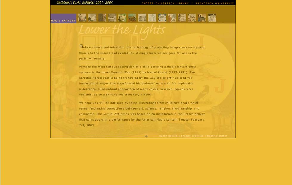 Online Children's Books Exhibits—2001-2005 Magic Lantern