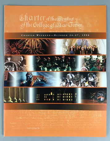 250th celebration Charter Weekend program booklet cover