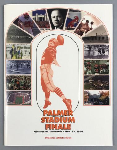 Palmer Stadium last game before demolition—program book cover