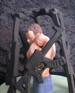 man met baby + geweren a