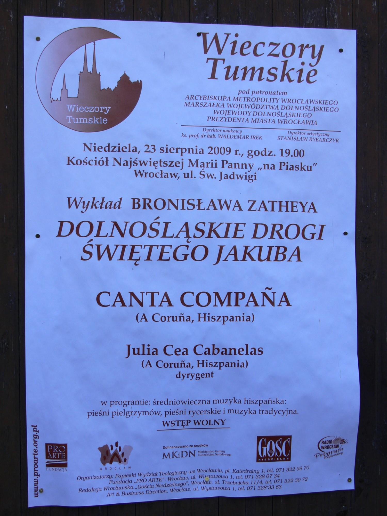 Concierto en Wroclaw (Polonia)