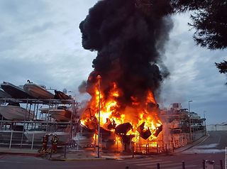 Incendie Marseille W&S Bateau du Samedi