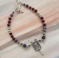 Garnet Rosary Bracelet After Custom Order by A Wear of Prayer