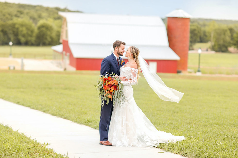 Happy Bride and Groom at Red oak Valley