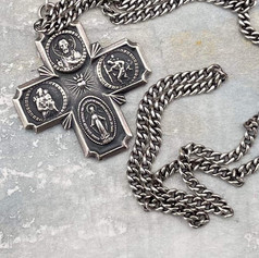 Large Scapular Medal and Chain Before Custom Order by A Wear of Prayer