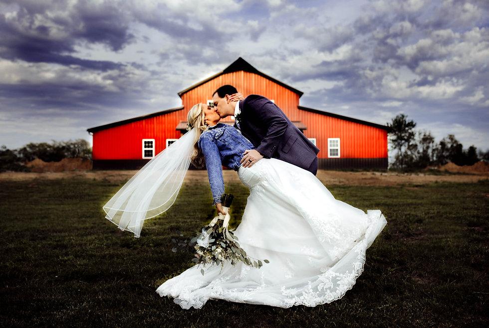 Just married at Sugar Spring Ranch