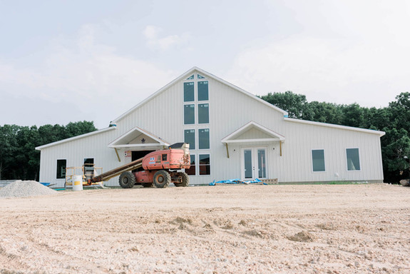 Front view of White Barn