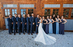 Bridal Party standing in front of the Saloon at Wicked Pony Ranch - Dittmer, MO