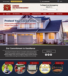 Eureka Fire Protection District website cover