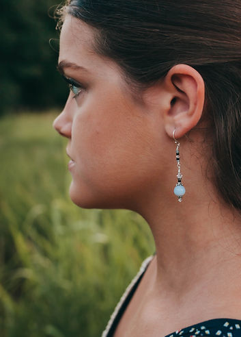 Chalcedony Balance Earrings - A Wear of