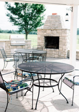 Outdoor cooking station and patio