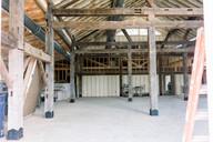 Interior of White Barn