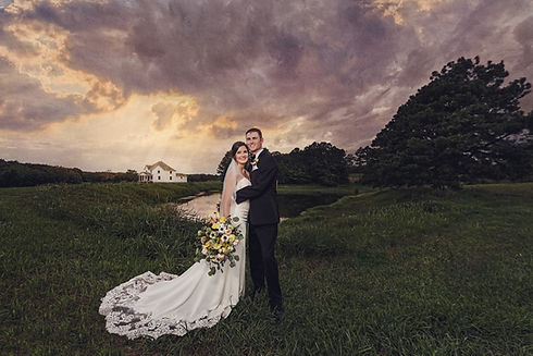 Wedding day with Lake view and Farmhouse