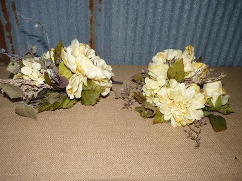 White Flower Decor - QTY 2