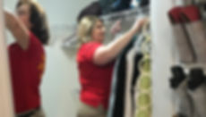 Goldilocks Solutions team helping client put away items after a move