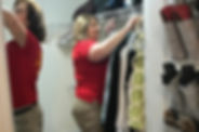 Goldilocks Solutions team organizing closets