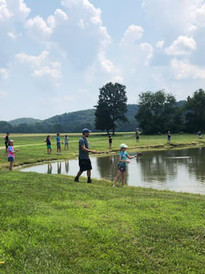 Fishing at AAA Summer Camp - Brookdale F