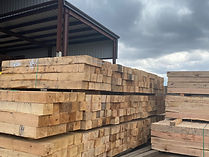 Untreated railroad ties at Madison County Wood Products - Fredericktown, MO