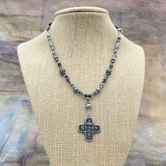 Large Scapular Medal Pearl Necklace After Custom Order by A Wear of Prayer