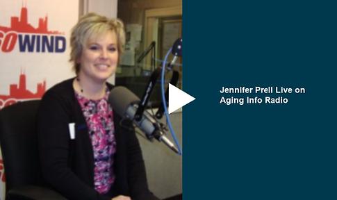 Jennifer Prell live on Aging Info Radio