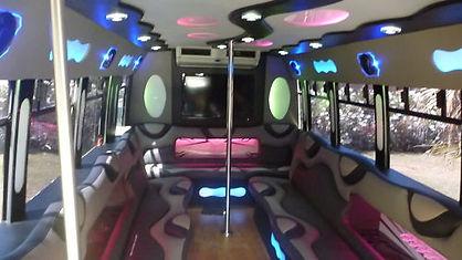Black Diamond Limo Bus Interior - All Ab