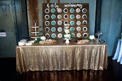 Holy Matrimony Donut Wall