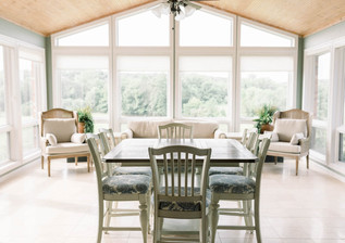 Sunroom just off the kitchen