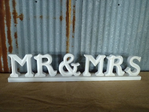 Mr. & Mrs. White Sign - QTY 1
