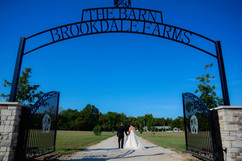 Bride and Groom - The Barn at Brookdale