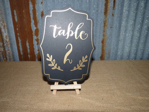 Table Numbers Black - QTY 1 Set (1-25)