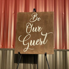 Be Our Guest Sign