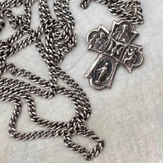 Small Scapular Medal and Chain Before Custom Order by A Wear of Prayer