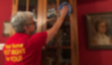 Goldilocks Solutions team cleaning home after a move