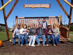 Dunker Family Picture at Heartland Farms